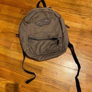 VANS Gray Fabric Backpack